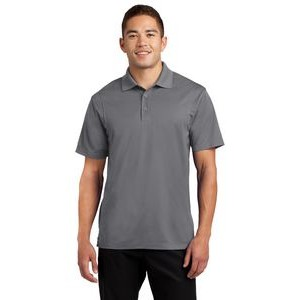 WICKING POLY KNIT POLO MEN/'S LIGHTWEIGHT CONTRAST STRIPES RESISTS SNAGS S-4XL