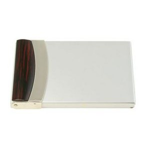 Brass Business Card Case with Maple Lid